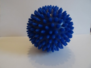 blue spiky ball