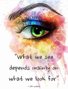 what we see...