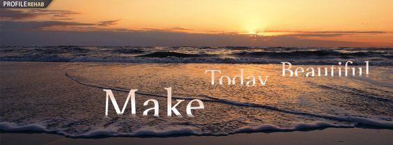 """Words, """"Make Today Beautiful,"""" on a sea photo with a sunset"""