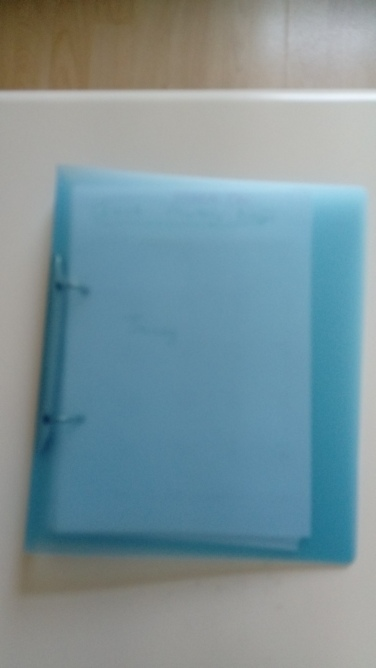 my A5 size folder for next years diary