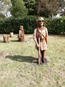 Statues on park