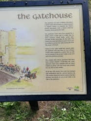 Text in a sign board to tell you about the part of the castle I am looking at