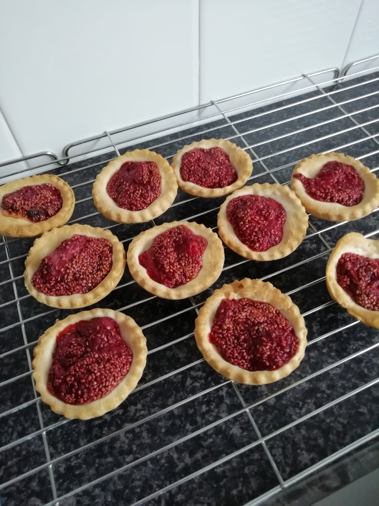 Chia strawberry jam tarts