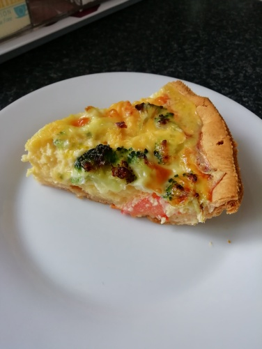 A slice of my dairy free quiche