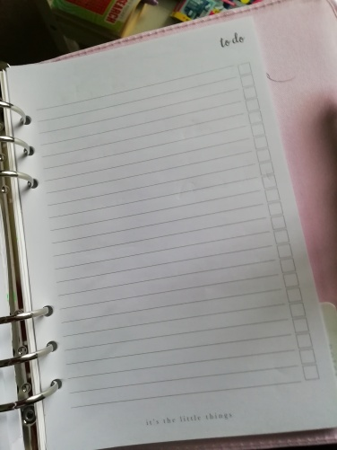 Blank to do paper