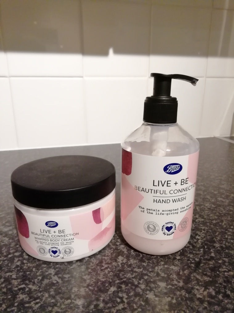 Boots Live + Be body cream and hand wash