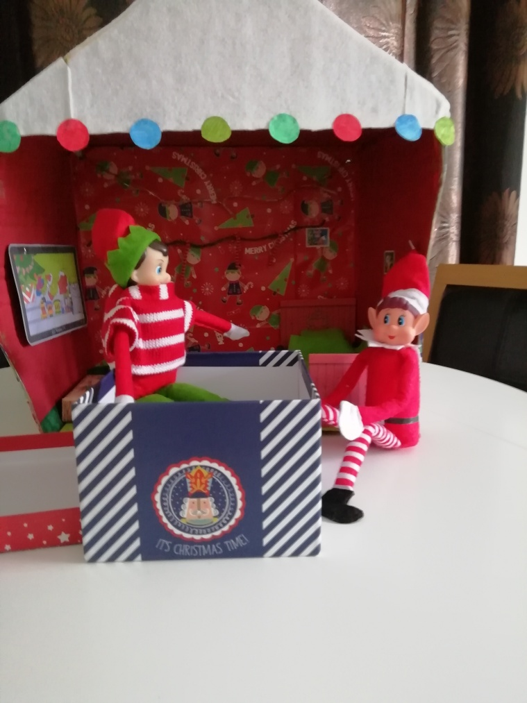 Nick the elf was inside the box for Noel.